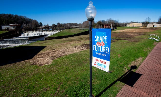 The site of the old Gurney building in Prattville, Ala., that is used by the city for events, is seen on Friday January 24, 2020.