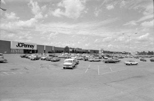The Muncie Mall parking lot outside JCPenney is shown in 1981.