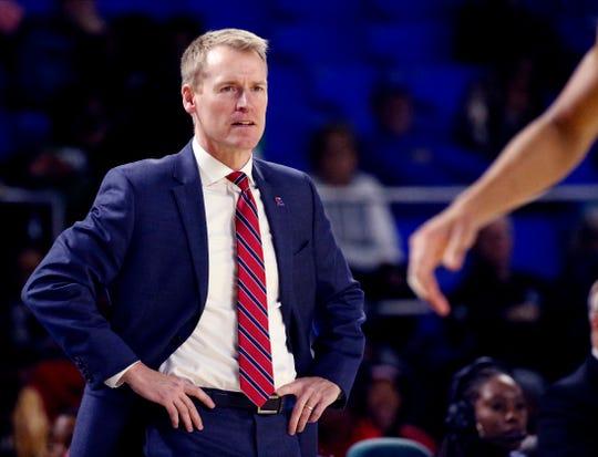 Louisiana Tech's Eric Konkol was named Coach of the Year for the 2020 LSWA All-Louisiana Men's Basketball Team.