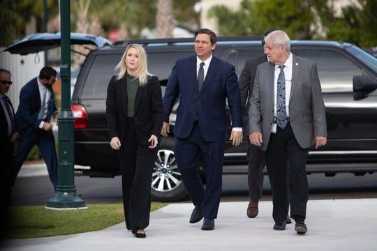 Florida Governor Ron DeSantis visits Naples' Baker Park on Friday, Jan. 24, 2020.