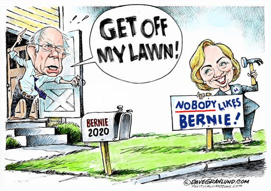 Hillary says nobody likes Bernie.