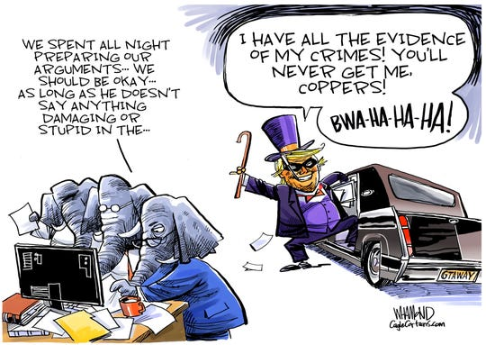 Trump claims to have all of the evidence.