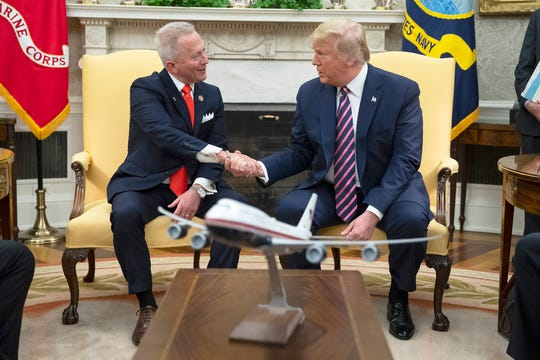 President Donald Trump on Thursday meets with Rep. Jeff Van Drew, who switched his party affiliation to the GOP.