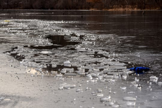 A person fell through the ice at Monksville reservoir in West Milford on Friday January 24, 2020.