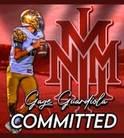 Former Mayfield and current Ruidoso quarterback Gage Guardiola has committed to play football at the New Mexico Military Institute.