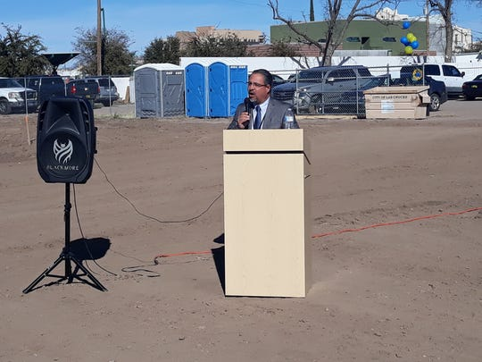 La Clinica de Familia CEO Virgil Medina speaks during a groundbreaking ceremony for the organization's new, 10,000 square foot behavioral health facility, to be located at 515 S. Miranda St. in Las Cruces, on Thursday, Jan. 23, 2020.