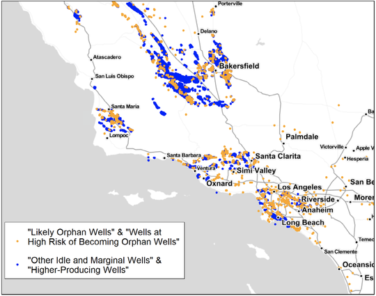 Thousands of oil and gas wells around California are orphaned, meaning they have become the state's liability.