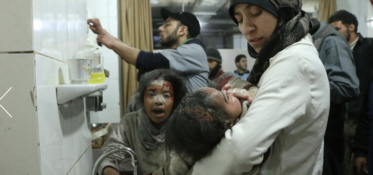 """A shot from the Oscar-nominated documentary """"The Cave."""" The National Geographic film chronicles female physicians working in an underground hospital in war-torn Syria."""