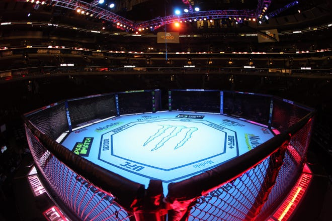 CHICAGO, IL - JUNE 08: General view of the UFC 238 octagon at United Center on June 8, 2019 in Chicago, Illinois. (Photo by Rey Del Rio/Getty Images)