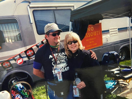 Thom Watson (left) and his wife Shirley (right) pictured at the 1994 Senior Bowl in Mobile, Alabama. The Watson family has attended every Senior Bowl since 1970.