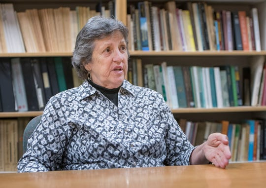 Judy Bense, former president of the University of West Florida, talks Thursday about her life and career.