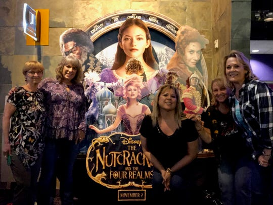 """For me, going to the movies is a social activity, like on this outing to see """"The Nutcracker"""" with my dance troop."""