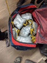 Border agents arrested two man who were retrieving packages of narcotics that were tied to one another and floated through a drainage tunnel Jan. 17, 2020, in Nogales, according to U.S. Customs and Border Protection officials.
