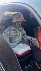 The Arizona Department of Public Safety cited a man for driving in the HOV lane with a skeleton decoration in the passenger seat on Jan. 23, 2020.