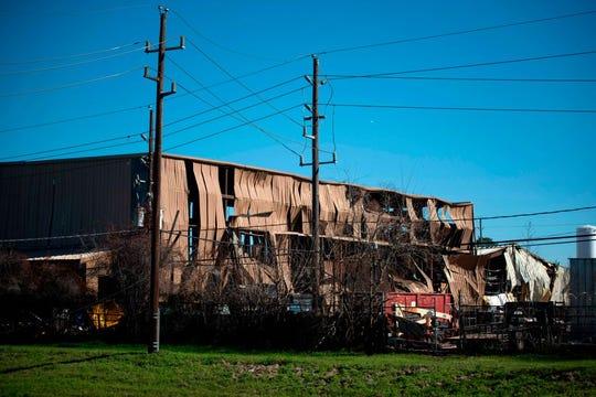 Así de dañado quedó el edificio afectado por la explosión.