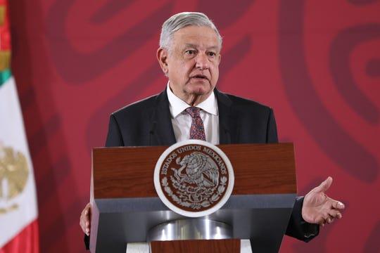 El presidente de México, Ándrés Manuel López Obrador, ofrece una rueda de prensa matutina este viernes, en el Palacio Nacional de Ciudad de México (México).