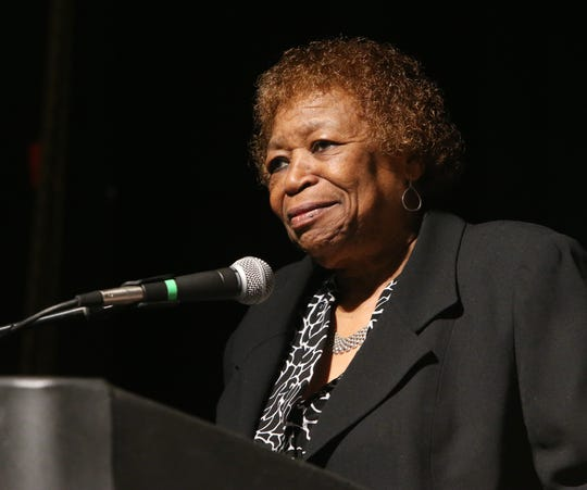 Community honoree Barbara Jeter Jackson speaks during the 29th annual Martin Luther King Jr. Breakfast on January 24, 2020.