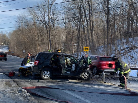 A Friday morning motor vehicle accident closed Route 82 in Pleasant Valley.