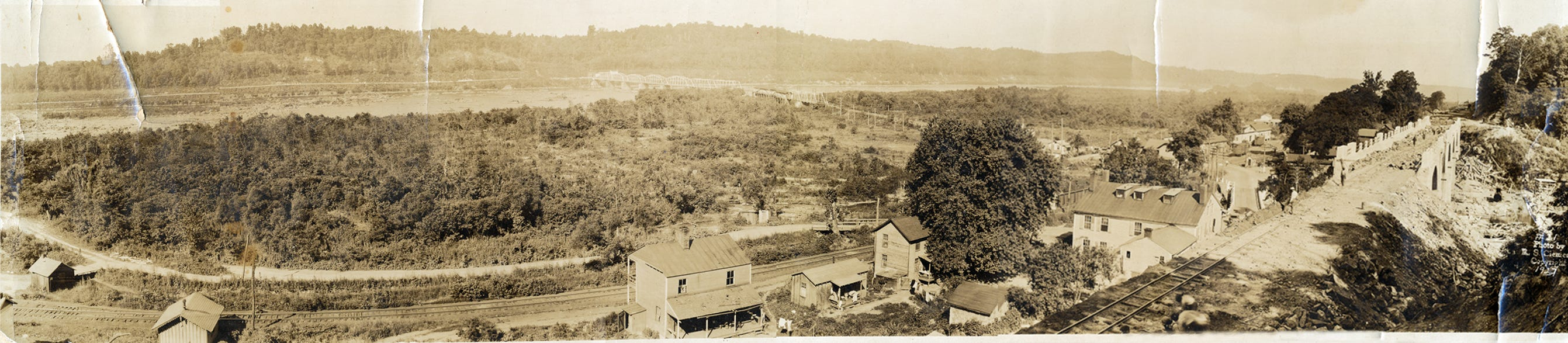 This image shows the town of Conowingo, in western Cecil County, Md., before the Conowingo Dam was built on the Susquehanna River. The town was flooded Jan. 18, 1928, as construction of the dam and reservoir was completed.