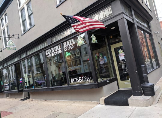 Outside of Crystal Ball Brewing in downtown York. The brewery began operations in 2013 in West York before expanding to downtown with the opening of its taproom in Feb. 2018. Both locations are expected to closed on Saturday, Jan., 25, 2020.
