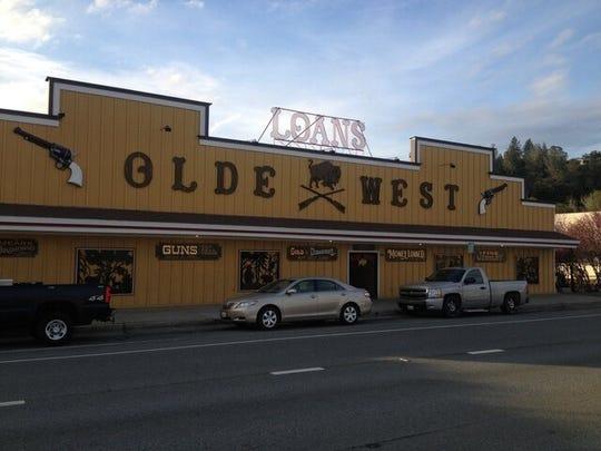 The Olde West Gun & Loan Co. on Market Street in Redding
