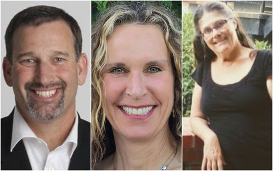 Three candidates are running to represent state Senate District 1 in the March 3 primary. From left to right: Republican incumbent Brian Dahle, Democrat Pamela Swartz and nonpartisan candidate Linda Kelleher.