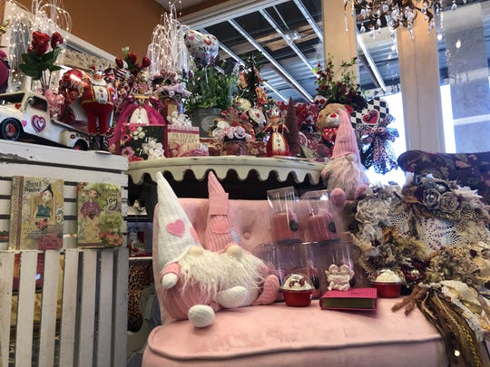 Valentine's corner in Shabby Chic of Dreams has gifts and house decor for the season.