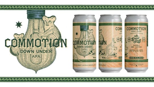 Great Raft Brewing releases its limited-edition Commotion Down Under beer, benefiting Australian wildlife rescue efforts.