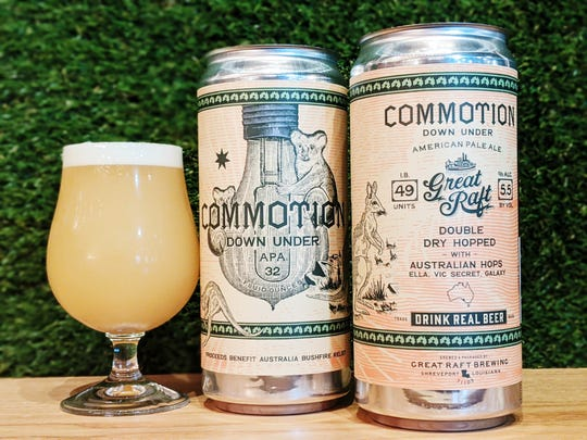 On Jan. 24, Great Raft Brewing released a special edition of its popular Commotion beer, penned Commotion Down Under. For every pint and crowler of Commotion Down Under sold, $1 will be donated to WIRES Wildlife Rescue and their efforts to rehabilitate and preserve wildlife endangered by the bushfires in Australia.
