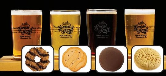For one week in March, customers can purchase a flight of beer paired with Girl Scout cookies at the Twisted Root Burger Co. in Shreveport. The cookies are paired with craft beers by Great Raft Brewing.