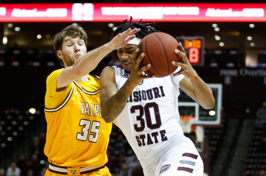 The Missouri State Bears take on the Valparaiso Crusaders at JQH Arena on Thursday, Jan. 23, 2020.