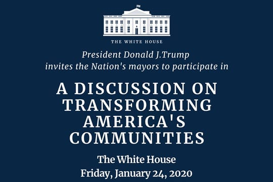 St. Cloud Mayor Dave Kleis's invitation to a panel at the White House on Friday, Jan. 24, 2020.