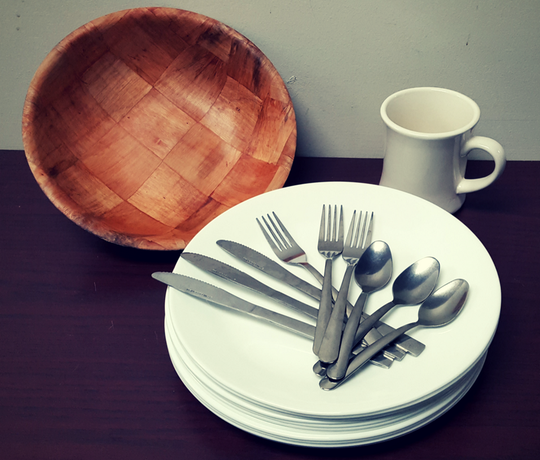 Swap the single-use plastic utensils for a reusable set that you keep in your bag or your car.