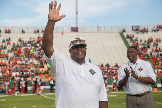 Former Florida A&M and Rickards great offensive lineman Wally Williams gets enshrined into the Rattlers' Hall of Fame.