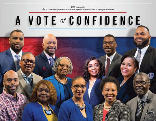 The cover of this year's 2020 Cherry Hall Alexander African-American History Calendar