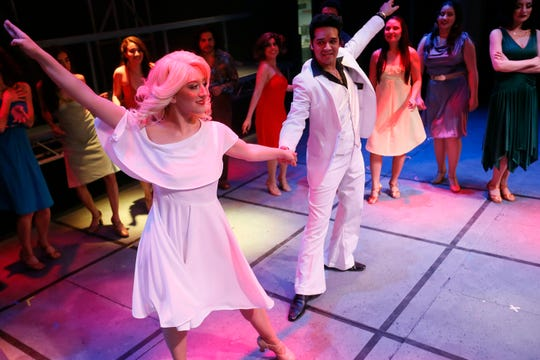 "UTEP students rehearse for their performance of ""Saturday Night Fever"" at the UTEP Dinner Theatre on Wednesday, Jan. 22, 2020, in El Paso."
