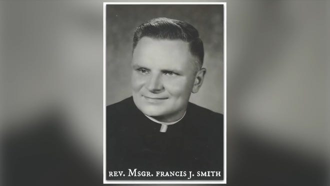 The Rev. Monsignor Francis J. Smith in a photo of his early priesthood.