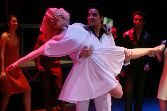 UTEP students rehearse for their performance of Saturday Night Fever at the UTEP Dinner Theatre Wednesday, Jan. 22, in El Paso.