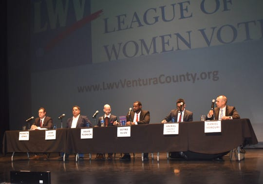 Candidates vying to represent California's 25th Congressional District participated in a League of Women Voters of Ventura County forum in Simi Valley.