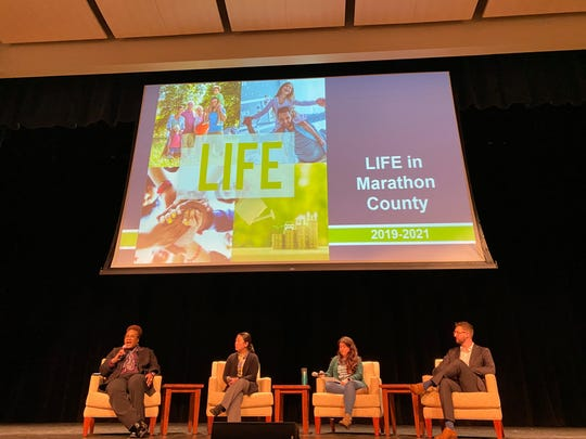 Panelists speak about diversity and inclusion at the release of the LIFE Report Friday morning.