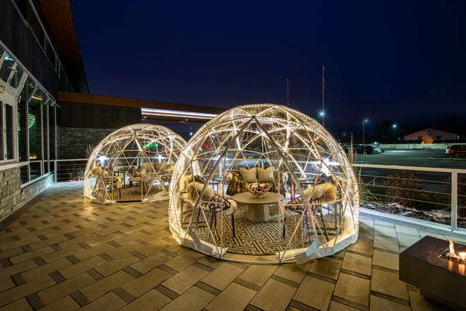You can now reserve a heated igloo dome on the patio of the Hilton Garden Inn in Rib Mountain. Around six people can order any food and beverage from the hotel's restaurant and bar. You don't have to be a hotel guest to book an igloo.
