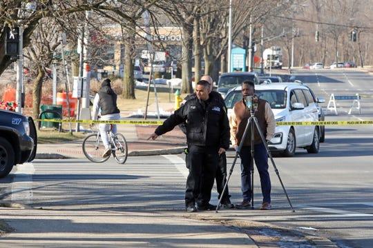 Police investigate the scene where a pedestrian was struck on Route 119 near Route 100 in Greenburgh Jan. 24, 2020.