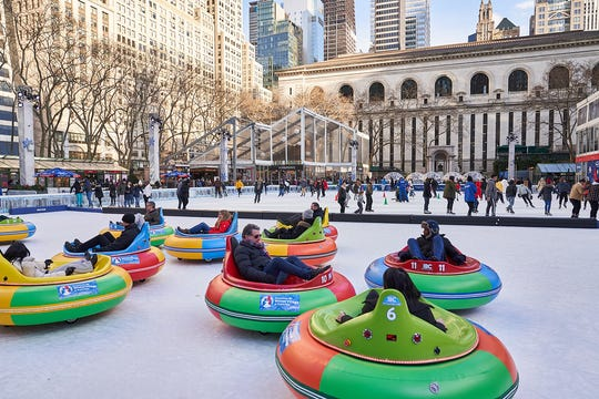 Bumper cars are back at the Bank of America Winter Park, through Feb. 24,