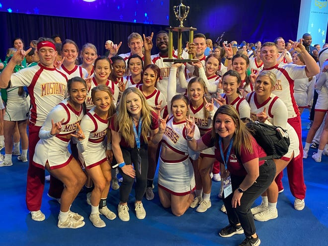The Midwestern State University cheerleaders recently placed third in the Walt Disney World UCA College Cheerleading National Championship in Orlando, Fla. The annual event is broadcast  on ESPN and ESPN2.