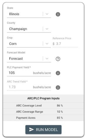 The Gardner ARC-PLC Payment Calculator allows users to compare payments from Agricultural Risk Coverage at the County Level (ARC-CO) and Price Loss Coverage (PLC) for all counties and crops for which ARC-CO will be offered.