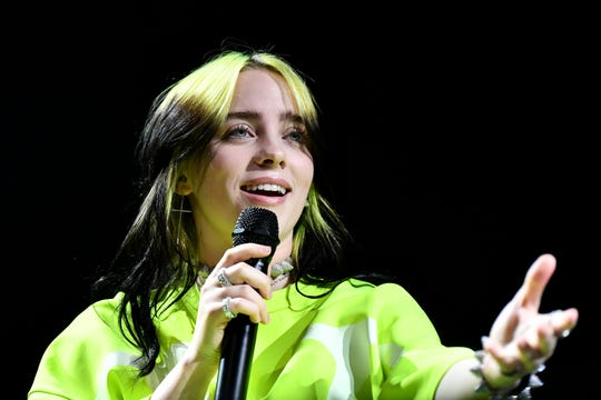 "Billie Eilish performs onstage at Spotify Hosts ""Best New Artist"" Party at The Lot Studios on Jan. 23, 2020 in Los Angeles."