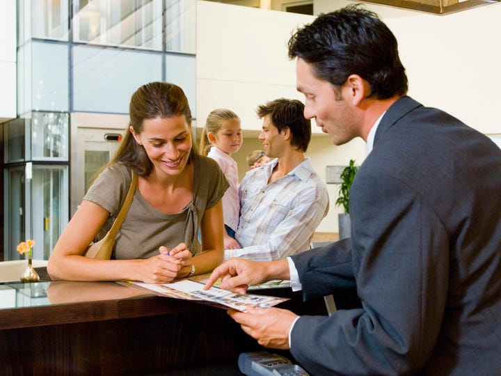A good hotel concierge can help find you a babysitter don't even think about asking them to watch your kids.