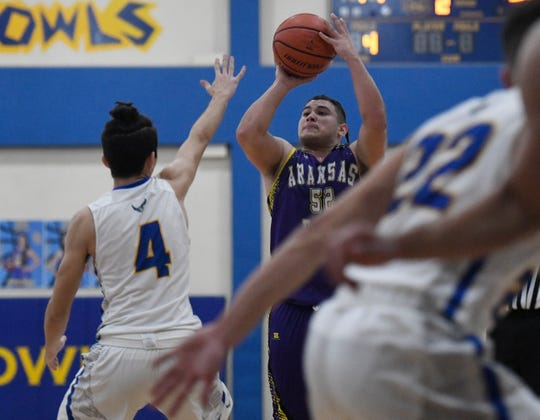 Aransas Pass faces Odem in a District 29-3A basketball game, Friday, Jan. 24, 2020, at Odem High School. Aransas Pass won, 80-49.