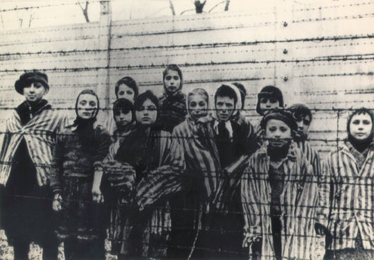 A group of children at Auschwitz just after its liberation in January 1945 by the Russian army. More than 1.5 million people died at Auschwitz during the Nazi regime.