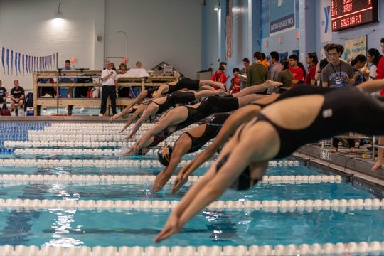 Old Bridge girls win first-ever GMC swimming championship